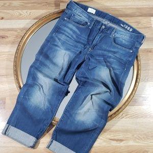 GAP SEXY BOYFRIEND Distressed Denim Crop Jeans 12